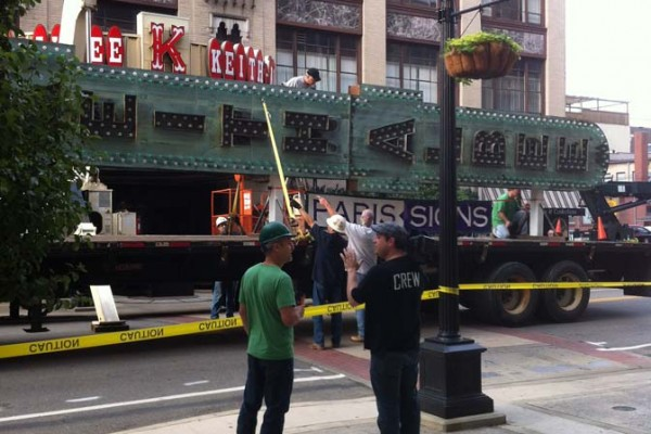 Keith-Albee Theater Sign Restoration